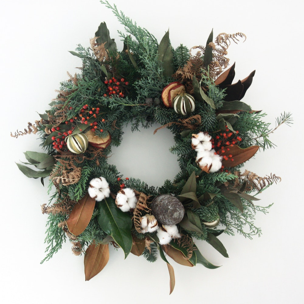Green and Red Wreath