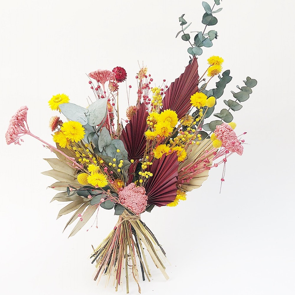Bright dried flowers