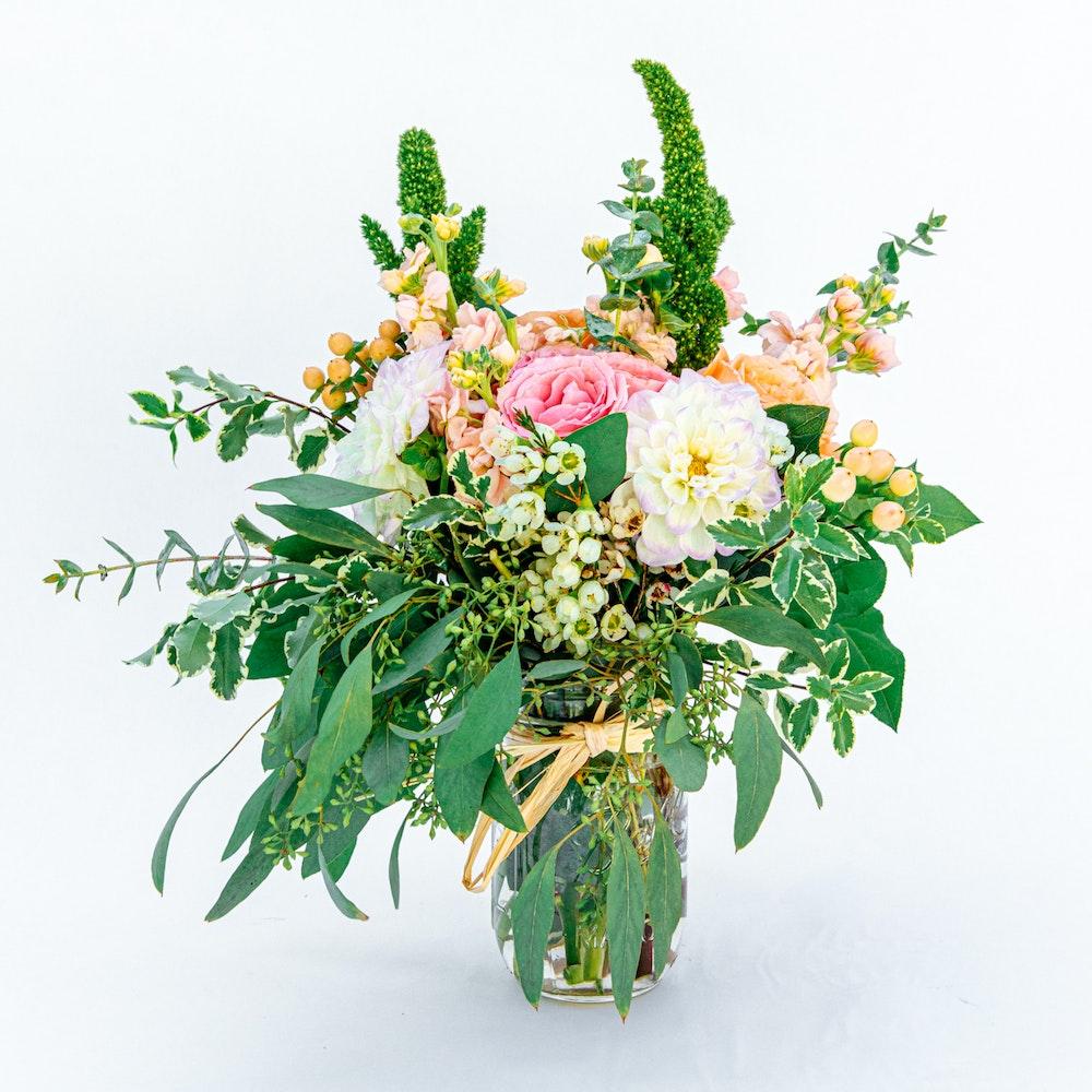 Blushing Flower Jar
