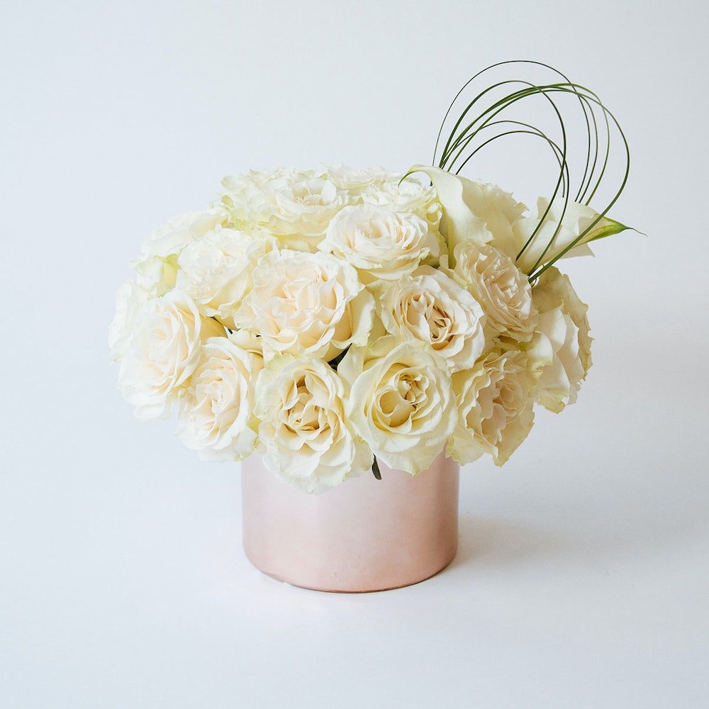 Nude White Roses